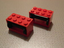 Lego Town - 2 Red String Reel Winch 2 x 4 x 2 - Good Condition  (4209 4210)