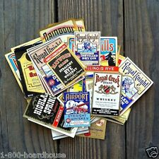100 Vintage Assorted WHISKEY LABELS LIQUOR Collection Lot 1930s Unused NOS