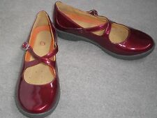 CLARKS RED 'MARY-JANE' UN-STRUCTURED **SZ 6.5D** LADIES SHOES
