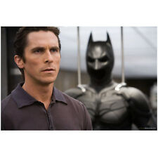 Christian Bale as Bruce Wayne Next to Bat Suit 8 x 10 Inch Photo