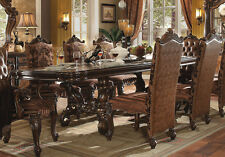 "Acme ""Versailles"" Cherry Oak 120 L"" 9 Piece Dining Set Furniture 61100"