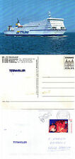 SWEDEN FERRY TT TRAVELLER SHIPS CACHED COVER & A COLOUR POSTCARD
