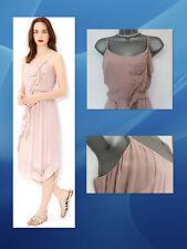 *MONSOON*Stunning Melissa Cami Pleated Assymetric Pink Dress sz 12