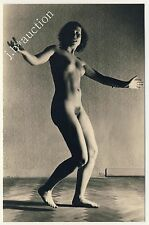 NUDE WOMAN DANCING / TANZENDE NACKTE FRAU * Vintage 30s Risque Amateur ? Photo
