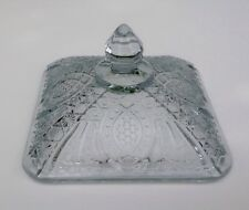 Vintage Ice Blue Cut Glass Candy/Dish -Replacement Lid Only- No Damage