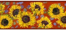 Summer Sunflowers Wallpaper Border--Country/Western ~ SALE!