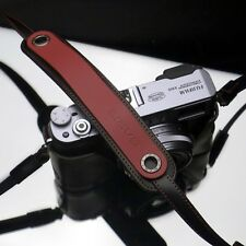Gariz Red Black Leather Neck Strap XS-CHLSNRB Sony NEX Olympus EM5 Lumix Leica