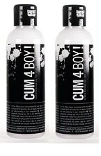 Cum 4 Boy! Hybrid Cum Like Waterbased & Silicone SPUNK Lubricant Twin Pack 200ml