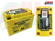 HONDA CBR1100 BLACKBIRD (2001-08) MOTOBATT 20% EXTRA POWER AGM BATTERY YTZ12S