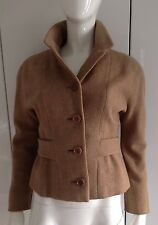 """SIMPSON OF PICCADILLY TRUE VINTAGE LATE 50'S LIGHT BROWN WOOL JACKET BUST 36"""""""