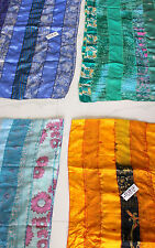 Handmade Silk Sari Recycled Scarves Stoles Patchwork scarf Wholesale Lot 10 Pc
