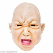 Scary Baby Fat Face Mask Halloween Creepy Child Fancy Dress Costume