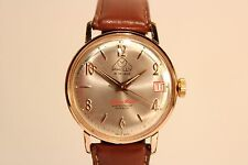 "VINTAGE NICE CLASSIC GOLD PLATED MECHANICAL SWISS MEN'S WATCH""PHILLY""21 J"