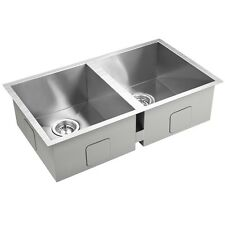 770*450*205mm Square Stainless Steel Double Bowl Laundry Kitchen Sink