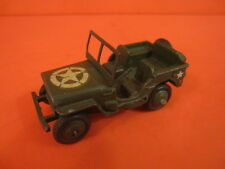 DINKY TOYS 153A MILITARY US ARMY JEEP GREEN  (#ShS77)