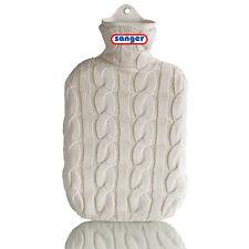 Wärmflasche mit Strickbezug, 2 Liter Wärm Flasche, aus Naturgummi