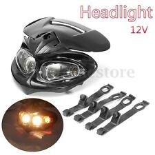 12V LED Head Light Lamp Fairing Motorcycle Street Fighter Dual Sport Bike Dirt