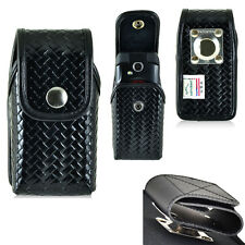 Genuine Leather Police Basket Weave Case for Kyocera DuraXE