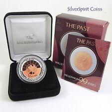 1999 $10  MILLENNIUM PAST BIMETAL Silver Proof Coin