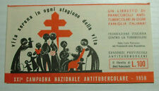 1958  XXI° CAMPAGNA  ANTITUBERCOLARE - LIBRETTO completo