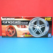 Aoshima 1/24 19 inch WORK [Gnosis GS2] wheel & tire model kit #009062