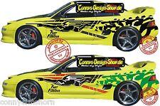 2 Fast 2 Furious Modelauto Aufkleber Set 60x10cm Brians Supra einfarbig