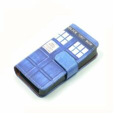 Doctor Who Tardis Police Box Blue Leather Wallet Flip Case Cover For Iphone 4 4s