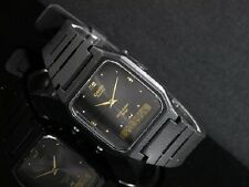 Casio AW-48HE-1A Black Resin Digital Analog Dual Time Watch