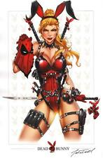 Jamie Tyndall / Zenescope Comics SIGNED X-Men Art Print ~ Deadpool Dead Bunny