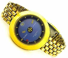 Zodiac Astrographic SST Gold Tone Mystery Blue Dial Swiss Automatic Men's Watch