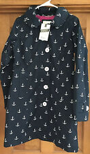 NEW HATLEY WOMENS NAVY WITH WHITE  ANCHORS RAINCOATJACKET SIZE 6