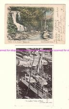 2 x WENTWORTH FALLS Blue Mtns VALLEY of WATERS The ladders c.1900s NSW AUSTRALIA