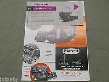 STARRETT 121D Basic Engine Flyer Incl Brochure Diesel Drawing Price List Vintage