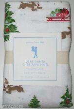Pottery Barn Kids Dear Santa Pillowcase Flannel Christmas Holiday Bedroom NEW