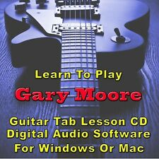 GARY MOORE Guitar Tab Lesson  CD Software - 61 Songs