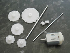 3v 3 volt 13100 Rpm DC Motor SHAFTS COGS PLASTIC GEARS 10MM WORM GEAR MODEL