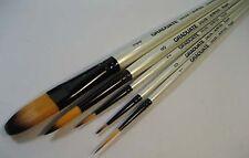 Daler Graduate Brush Set 0, 2, 8, Oval Wash, Rigger  -  for Watercolour Acrylics