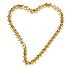 M561 Gold Open Falling Heart Hoop 42x41mm Wire-Wrapped Jewelry Component 10/pkg
