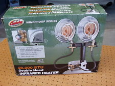 CENTURY DOUBLE HEAD INFRARED HEATER 28,000 BTU PROPANE WINDPROOF SERIES NEW NIB
