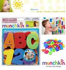 Bath Time Toy Munchkin 36 BATH LETTERS  NUMBERS Baby Toddler Bathing Educational