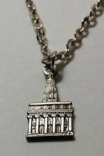 Mormon NAUVOO TEMPLE Antique Nickel Pendant & Necklace