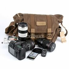 F1 Canvas Camera Shoulder Case Bag For Canon EOS 6D 7D 70D 1200D  / 7D Mark II