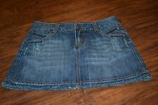F3- C7P A Chip and Pepper Production Denim Oceanside Mini Skirt Size 1