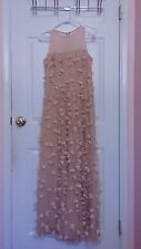 Pink Prom Gown Sz 6 Eva Franco Illusion Embroidered Empire Waist Sleeveless