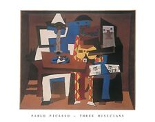 PICASSO, THREE MUSICIANS print poster  22 x 28