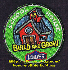 Patch  SCHOOL HOUSE Old Time   LOWES Build Grow Project Series Kid's