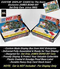 2 Custom Display Cases for AC Gilbert JAMES BOND 007 Set Only Cars