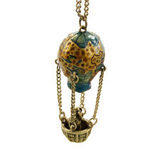 Hot Stunning Colorful Fire Balloon Necklace Hot Air Balloon Pendant Chain