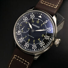 New Come 44mm Parnis Luminous Black Dial hand winding 6497 Movement Watches