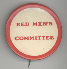 Rare 1920s IMPROVED ORDER OF RED MEN Committee Badge PINBACK Pin BUTTON IORM